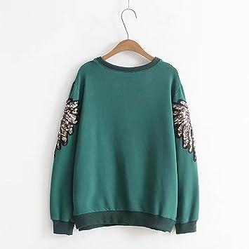 stts Women s Sweater Fett mm Plus Größe Fett Plus Große Frühjahr Mode  Wilden Rundhalsausschnitt Pailletten Dünnen 6aff01aaca