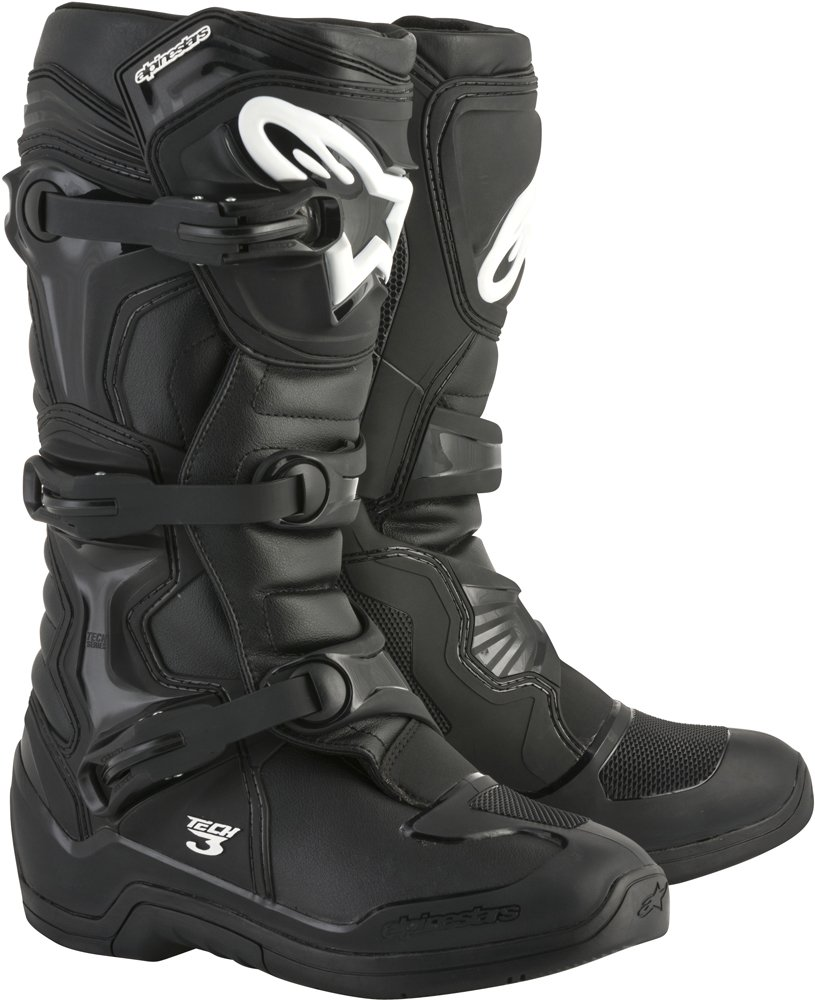 Alpinestars Tech 3 Motocross Off-Road Boots 2018 Version Men's Black Size 7 by Alpinestars (Image #1)