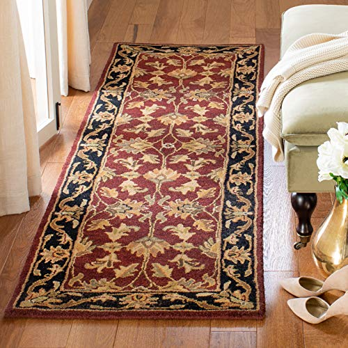 Safavieh Heritage Collection HG628C Handcrafted Traditional Oriental Red and Black Wool Area Rug (2'3