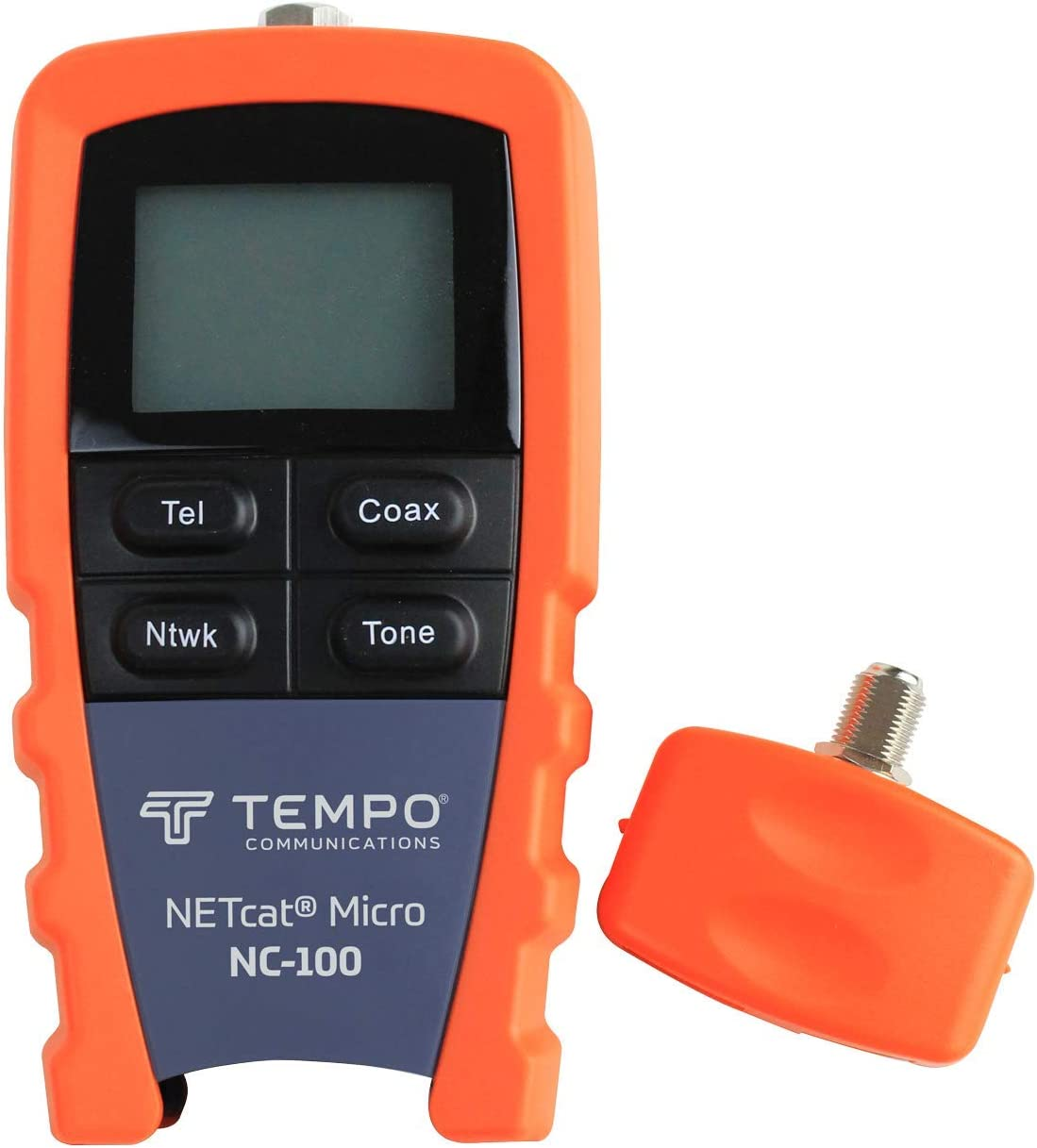 Tempo Communications NC-100 Professional Wiring Tester – Test Twisted Pair STP UTP and Coaxial Cables Latest Model