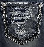 Miss Me Women's Blowout Pocket Mid Rise Boot Cut Jean,Medium Blue,28