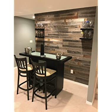 Real Weathered Wood Planks Walls - Rustic Reclaimed barn Wood Paneling Accent Walls, Easy Nail up Application
