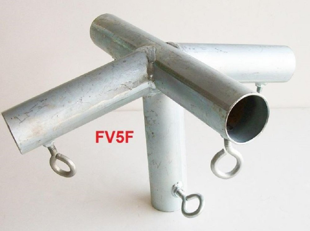 Golden Valley Tools & Tarps 5 way TOP CENTER LOW PEAK w/LEG 1 3/8 CANOPY FITTING (FV5F) 1 3/8 Pipe