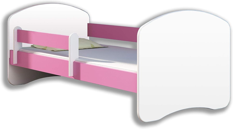 140x70 cm + tiroirr, Rose Lit enfant B/éb/é ACMA II TIROIR MATELAS GRATUITE BLANC
