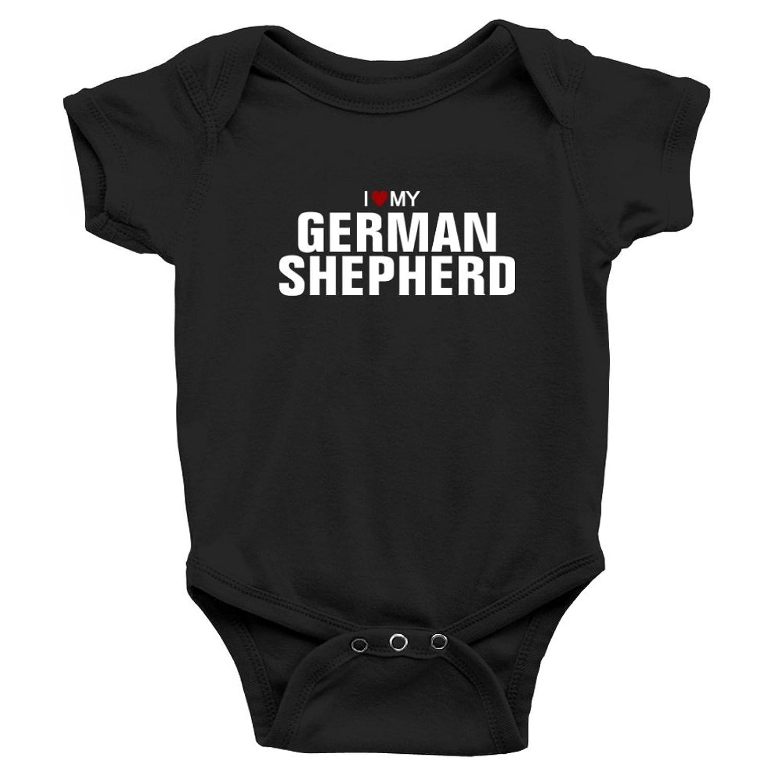 Teeburon I Love My German Shepherd Baby Bodysuit Amazon Clothing