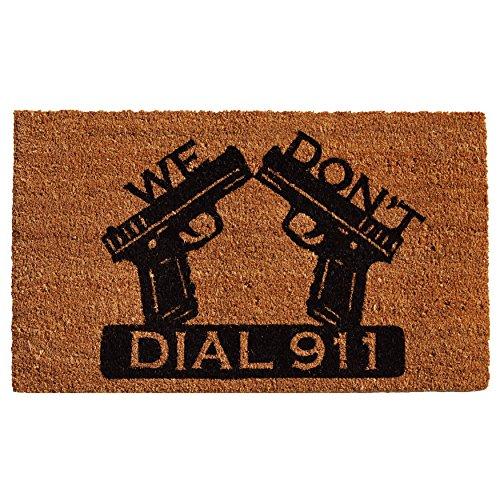 Home & More 121511729 Dial 911 Doormat, 17
