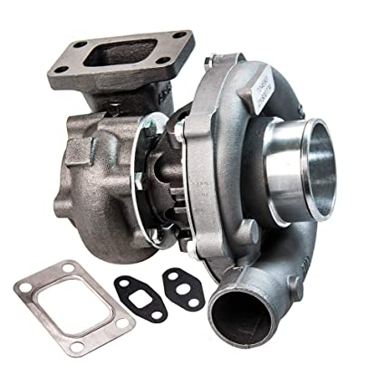 Amazon.com: maXpeedingrods T04E T3/T4 Turbo Charger 0.5A/R 0.57A/R 44 Trim 5-Bolt 400+HP Boost Turbocharger 7psi-21psi, Oil Cooled Turbo with External ...