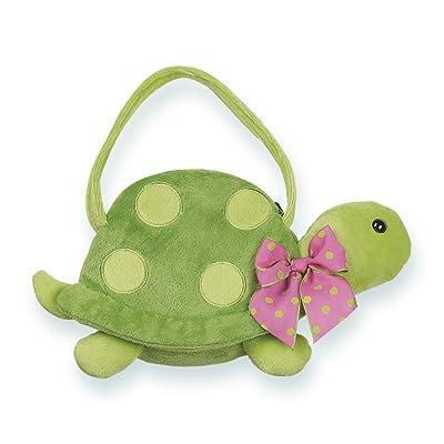 Bearington Pokey Carrysome, Girls Plush Turtle Stuffed Animal Purse, Handbag 7 inches: Toys & Games