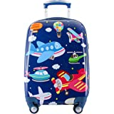 GURHODVO Kids Carry On Luggage for Boys Children Rolling Suitcase with 4 Spinner Wheels Hardshell Case for Toddler to Travel