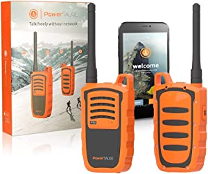Power Talkie Off Grid Communication Device - Set of 2 Talk and Messenger Communicator, Wireless, SOS Emergency Alert - Pairs to Smartphone, Powerful 6000mAh Battery, 1-3 Miles Range