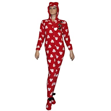 Primark Essentials Girls Minnie Mouse Onesie Fleece Sleepsuit Costume Pyjamas 9 - 10 Years Red