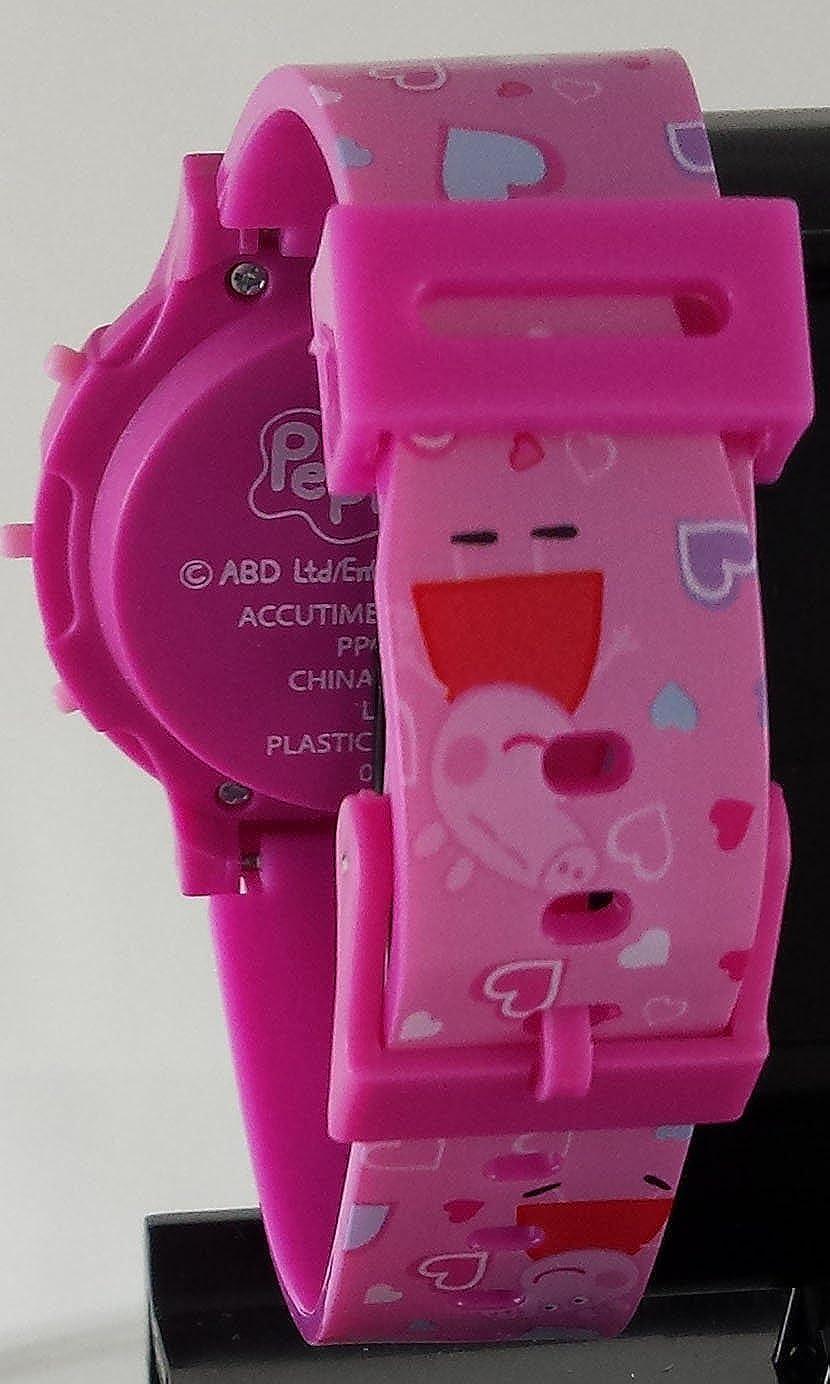 Peppa Pig - Reloj digital Rosa para niña con luz Up función (ppg4041): Amazon.es: Relojes
