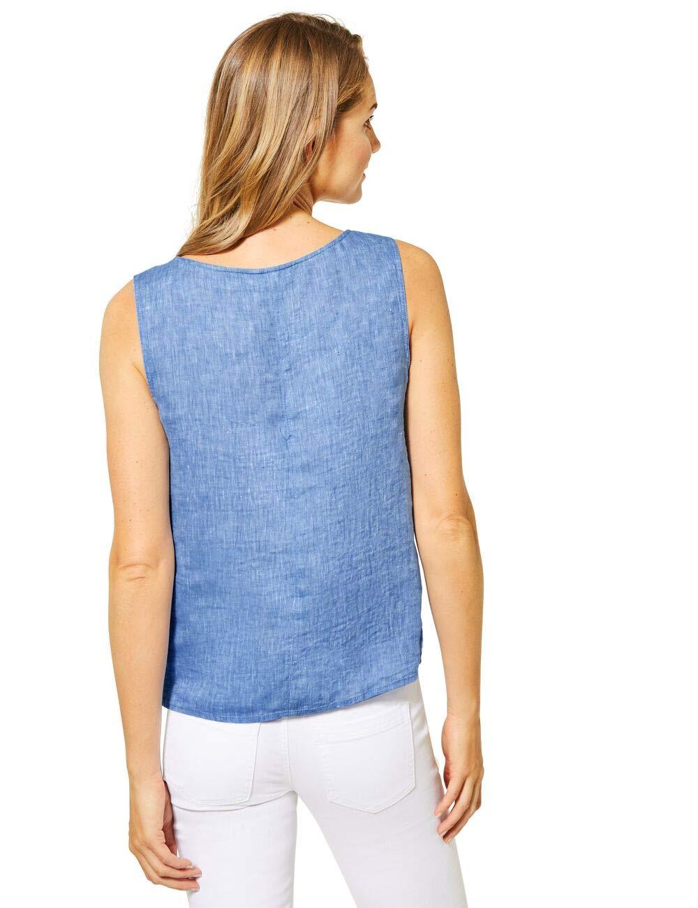 Street One dam blus Linen Blue Melange