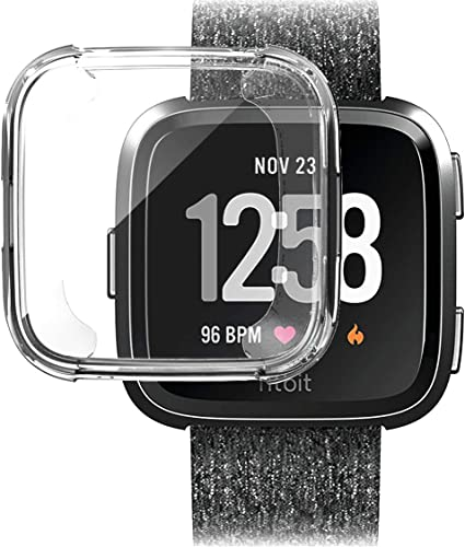 Amazon.com: Compatible con Fitbit Versa Watch Case ...