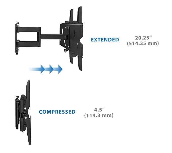 Insignia NS-L42X-10A LCD HDTV Compatible Dual Arm Wall Mount & FREE HDMI  CABLE