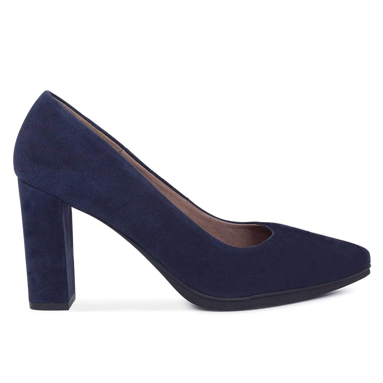 Urban - Zapatos de tacón Alto Mujer Azul Marino