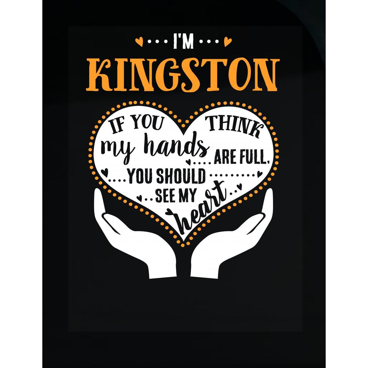 Amazon com kingston should see my heart cool gift sticker home kitchen