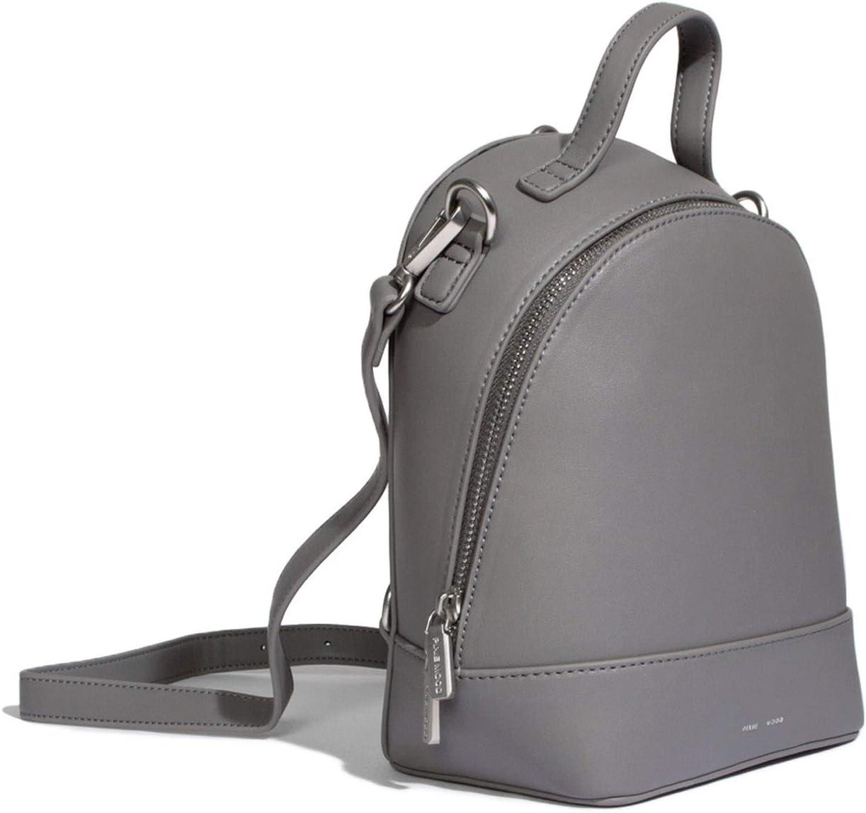 Cora Small Stylish Black 9 x 7 Vegan Leather Basic Multipurpose Backpack