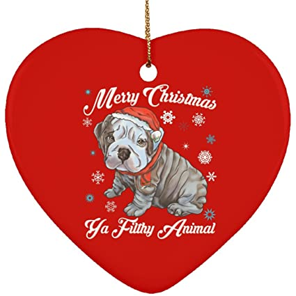 Amazon Com Christmas Tree Decorations English Bulldog Puppy