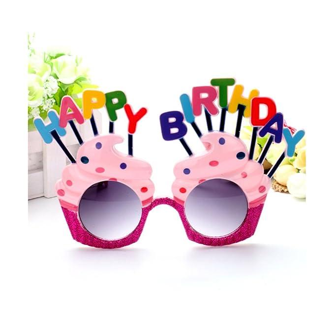 OULII Happy Birthday Party Sunglasses Fête d'anniversaire Fournitures Fun Nouveauté Lunettes de soleil D14TwxoGL