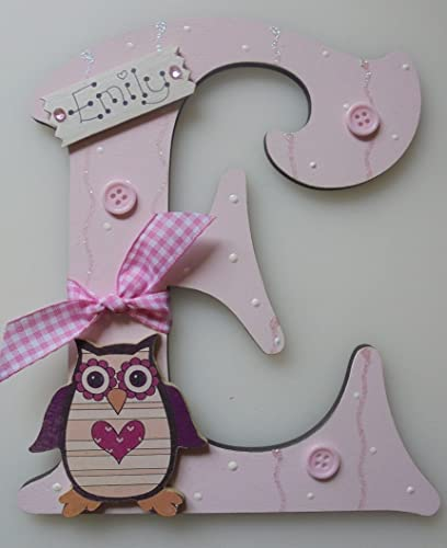 owl wooden letter any letter with any name available