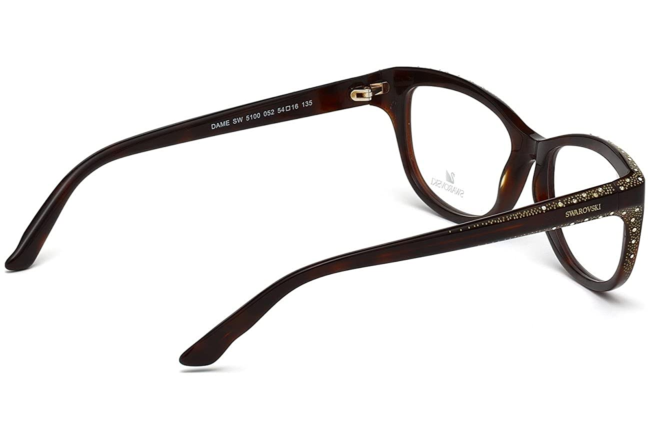 bae8a10f05 Eyeglasses Swarovski SK 5100 SK5100 052 dark havana at Amazon Men s  Clothing store