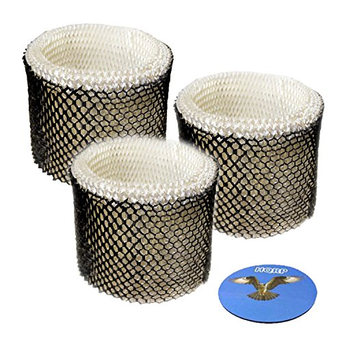 HQRP 3-Pack Filter for Touch Point S35E-A / S35E A Humidifier Filter Replacement Coaster
