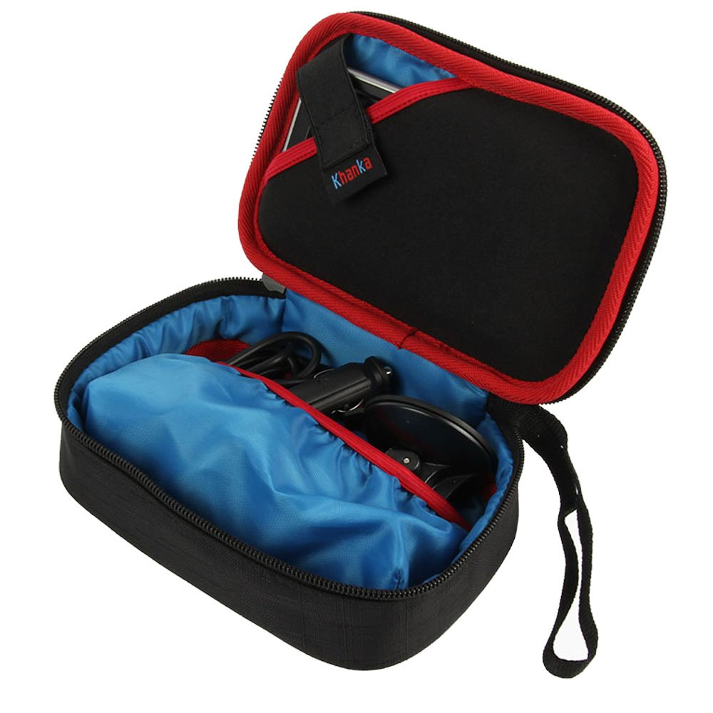 Khanka Carrying Case for Garmin Nuvi 57LM GPS Navigator System with