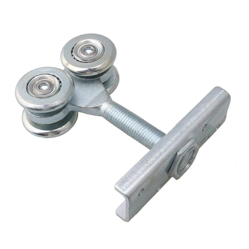 Dia 54mm Steel Double Wheel Rail Hanging Trolley Silver Sliding Track Roller Hanging Barn Door Rail Trolley Wheel H5 w/Nuts by Happynest Box Rail Hangers (Image #6)