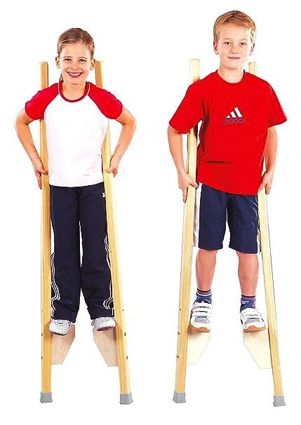 Sport-Thieme Kinderstelzen | Stelzen für Kinder bis 150 cm | Sicher, Stabil, Höhenverstellbar | Belastbar bis 90 kg | Ab 6 Ja