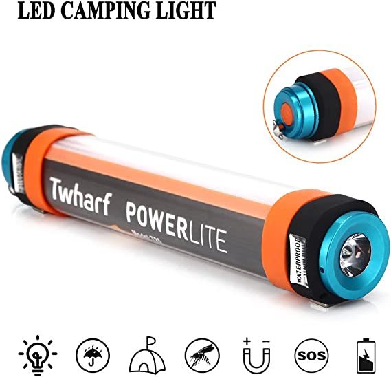 5W Rechargeable 6 Mode LED Flashlight Lantern 7,800 Power Bank Mosquito Repelant