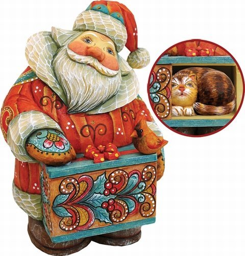 """G. Debrekht Santa with Cat Box, 5"""" for sale  Delivered anywhere in USA"""