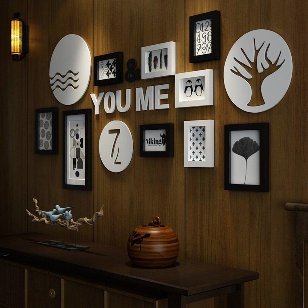 Amazon.de: Everyday Home 9 Mehr Bilderrahmen Set Holz Schwarz Und ...