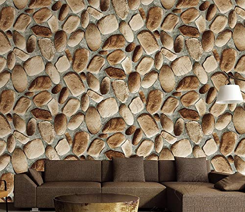 EUROTEX Stone Bricks Pattern Waterproof 3D Vintage Faux Panel Wallpaper (Brown, Grey, 53cm x 1000m) (B079ZTFP9X) Amazon Price History, Amazon Price Tracker