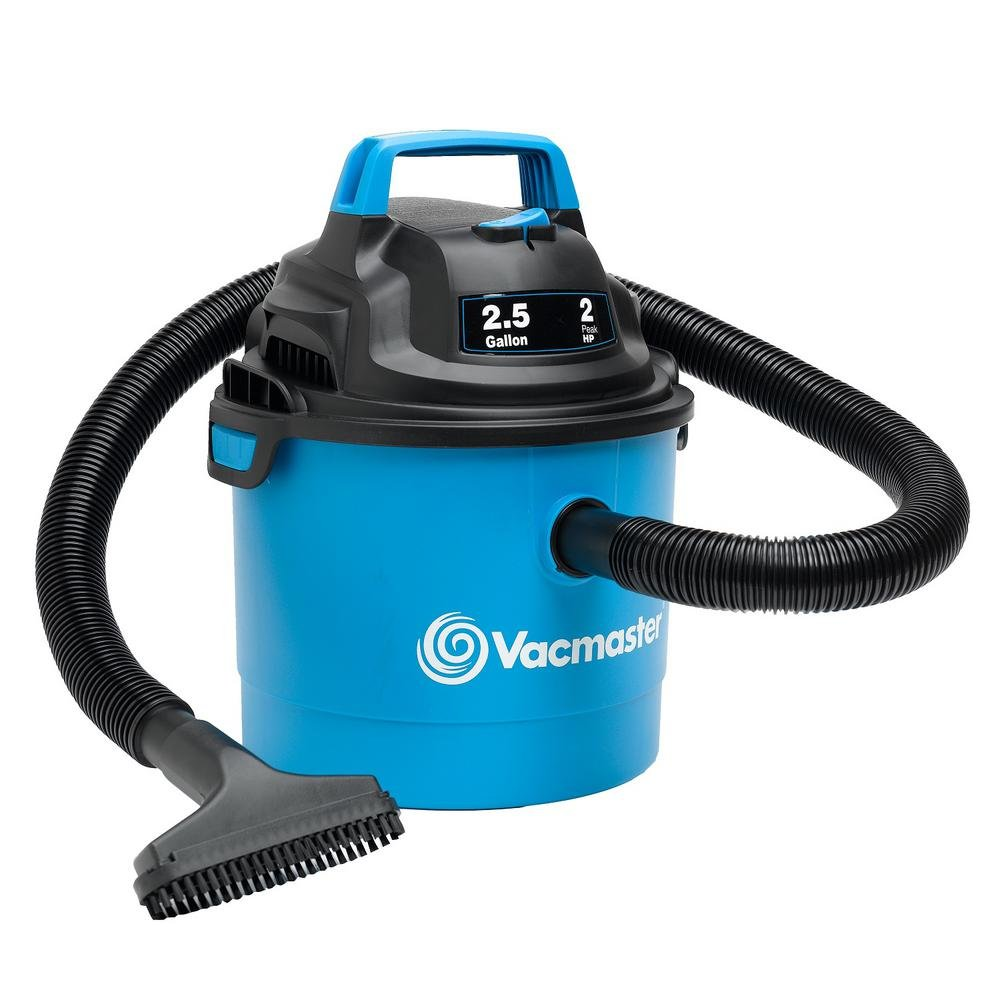 "Vacmaster Portable Wall Mountable Wet/Dry Vac, 2.5 Gallon, 2 HP 1-1/4"" Hose (VOM205P), Blue"