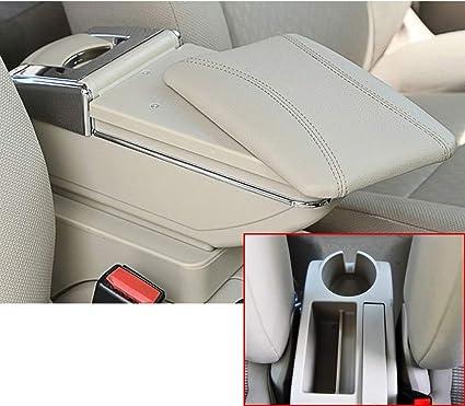 Para 2005-2011 V olkswagen Jetta mk5 Golf mk5 6 Auto Apoyabrazos Consola Central Reposabrazos Accesorios Beige: Amazon.es: Coche y moto