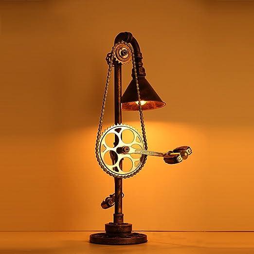 Retro lámpara de Mesa E27 simulación Bicicleta Pedal lámpara de ...