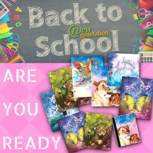 New Generation GO Alive - Fantasy - 6 Pack, 2 Pocket Folder/Portfolio, 3 Hole Punch - 6 Folders per Pack,Assorted 6 Fashionable Designs Folders. by New Generation (Image #3)