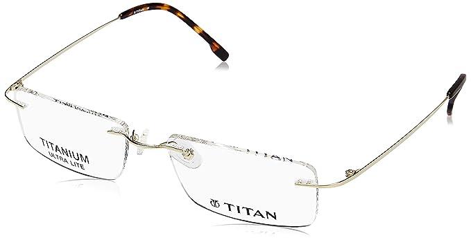 2d232c22b8 Titan Rimless Rectangular Unisex Spectacle Frame - (T1730A1A1