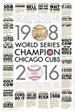 "OnceEvery108 Chicago Cubs 2016 World Series Poster with MLB City Newspaper Headlines and Ledes 20""x30"""