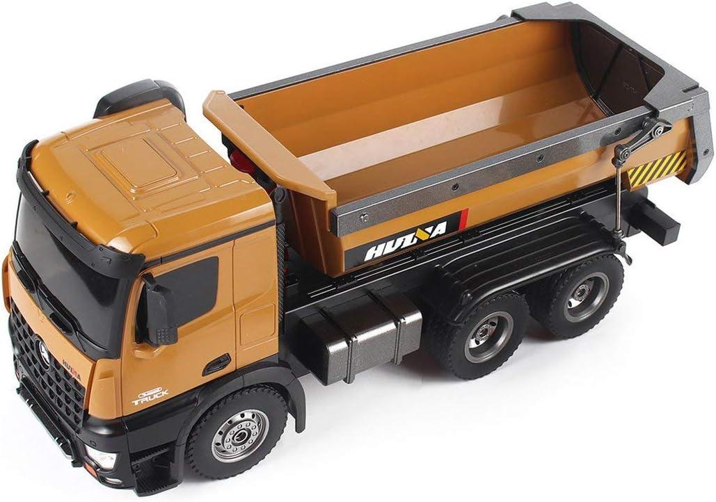 Tree-on-Life 1573 1/14 10CH Alloy RC Dump Trucks Ingeniería Construcción Coche Control remoto Vehículo Juguete RTR para HUINA TOYS