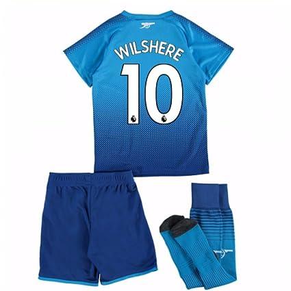e52ea909a23 Amazon.com   UKSoccershop 2017-18 Arsenal Away Mini Kit (Jack ...