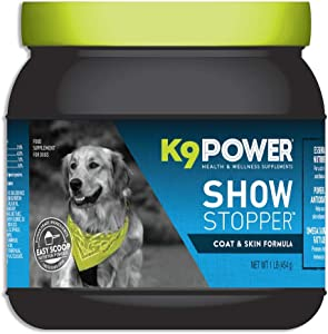 K9 Power - Show Stopper - Healthy Coat and Skin Supplement for Dogs - Reduces Excessive Itching and Shedding, Skin Hot Spots & Seasonal Allergies