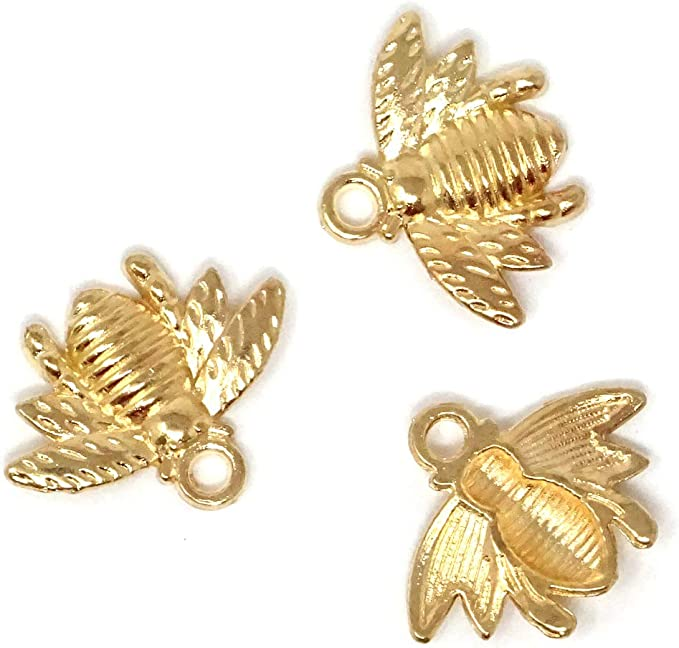 "50PCs Hot Metal Charm Pendants Bee Gold Tone 21mm x 16mm 7//8/""x 5//8/"""