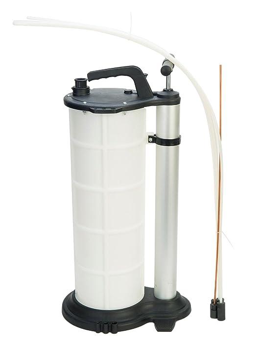 8MILELAKE 9 Liter Fluid Evacuator Manual Oil Changer Vacuum Hand Operated Engine Oil Change Fluid Extractor Pump Tank Remover