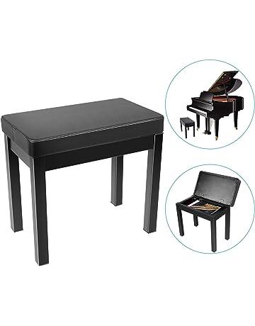 e9b63fdd1198 Neewer Piano Banco Banco de Taburete Teclado - Cojin Acolchado Deluxe  Comfort con Almacenamiento de Música