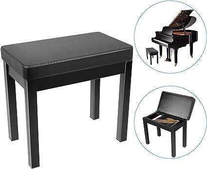 Oferta amazon: Neewer Piano Banco Banco de Taburete Teclado - Cojin Acolchado Deluxe Comfort con Almacenamiento de Música, Patas de Hierro para Piano, Teclado, Tocador, Libros/Partituras, Etc.