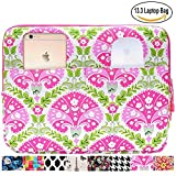 13.3 inch Laptop Sleeve Case Bag for Macbook Air 13 Pro Retina 13 Computer Bag for 13.3 Inch Tablet (Multicolored Cherry Petals)