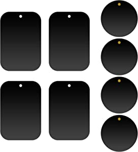 Cellet Pack of 8 Metal Plate Replacement Magnet Disk with 3M Strong Sticky Adhesive for Magnetic Cradle-Less Cup Holder, Dashboard, Windshield, CD Slot, or Air Vent Phone Mounts