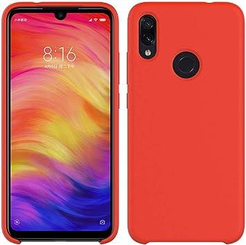 Funda para Xiaomi Redmi Note 7 de Silicona Cover con cojín de Forro de Tela de Microfibra Case Suave Carcasa para Xiaomi Redmi Note 7-Rojo: Amazon.es: Electrónica